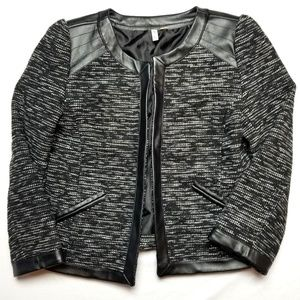 frenchi Nordstrom blazer small faux leather detail